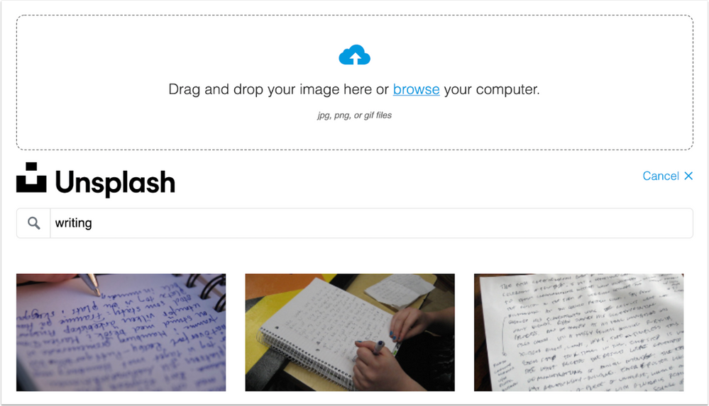 Commons replaces Flickr with Unsplash