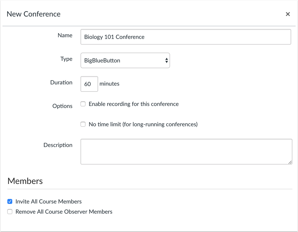 Conferences Observer Checkbox