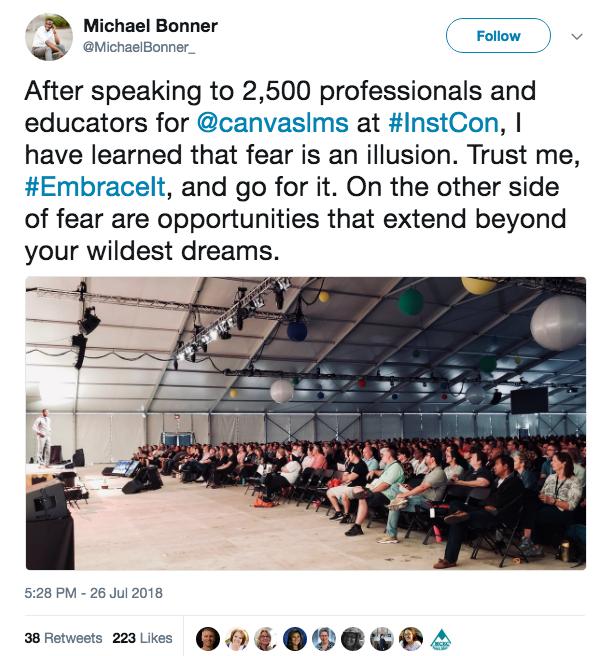 fear is the illusion_ Michael Bonner tweet