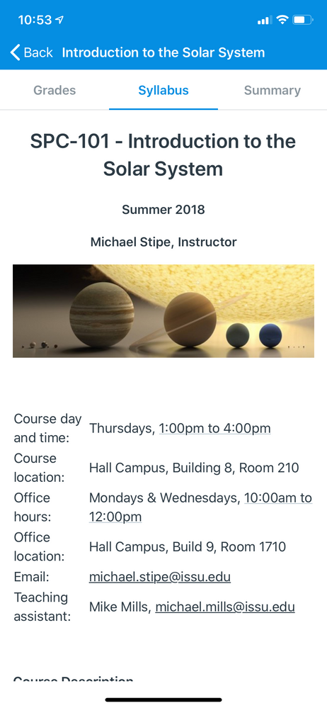 course syllabus in 3.0