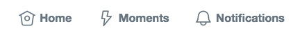 twitter notifications icon
