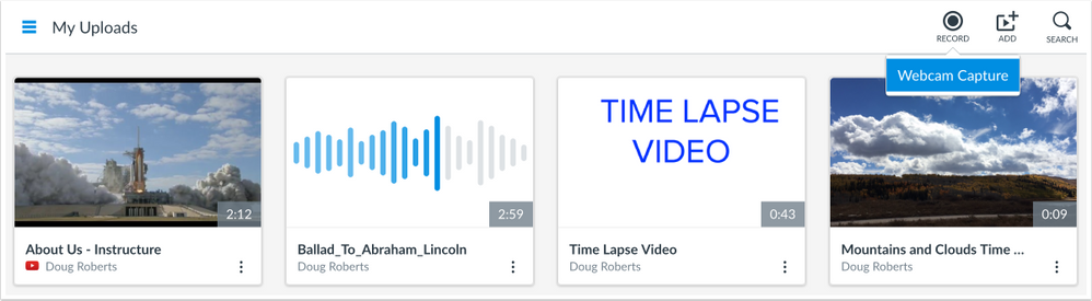 record video with webcam