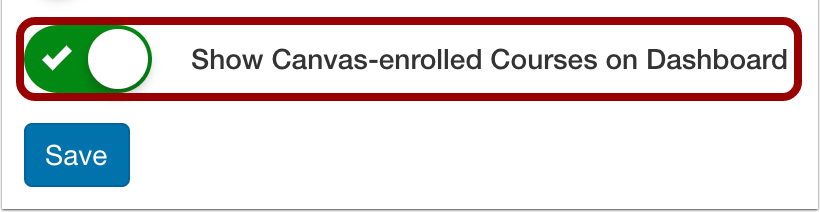 Show Canvas-enrolled Courses on Dashboard