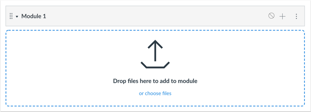 Modules Upload Files area