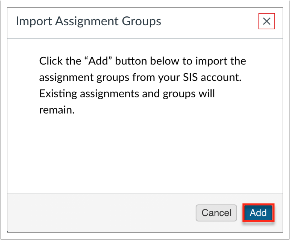 Add Assignment Groups