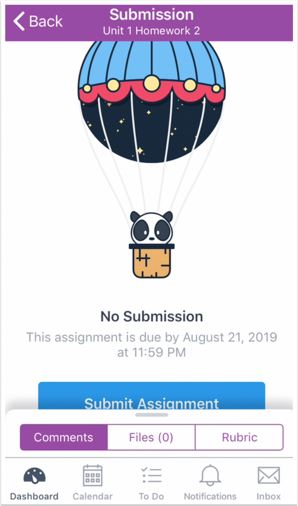 Submission Details Page