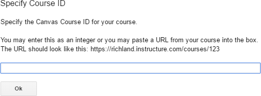 Specify Course ID