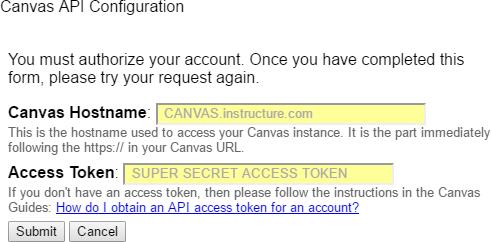 API Configuration