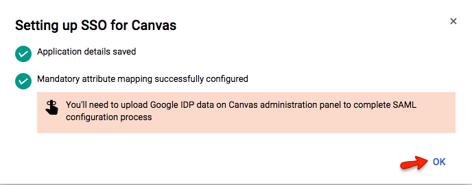 Setting up SSO for Canvas
