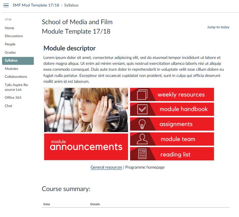 School media & film template