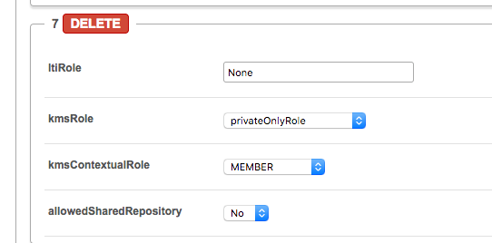screenshot showing privateOnlyRole selected for None user.