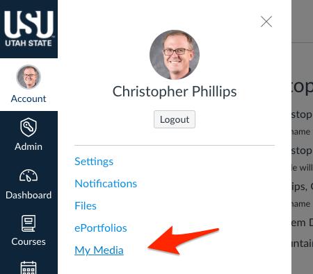 Screenshot showing My Media in global flyout.