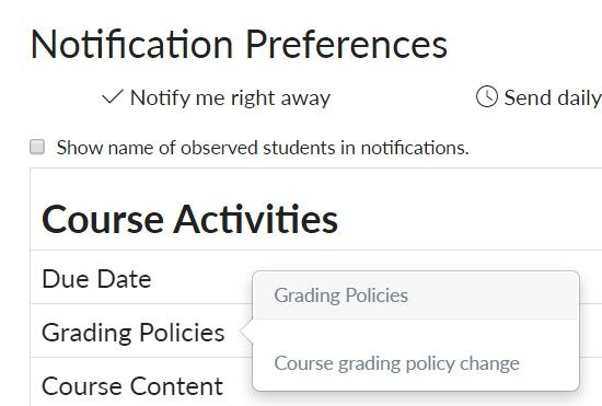 grade policy notifications