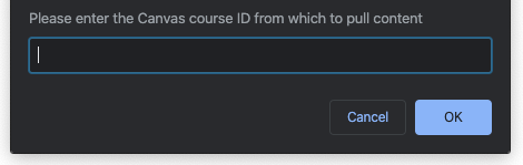 Course ID Prompt