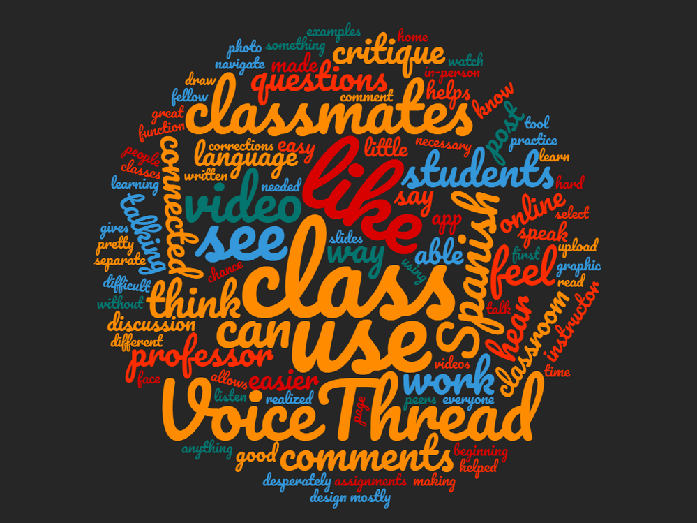VoiceThread Word Cloud