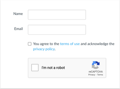 reCAPTCHA on signup page
