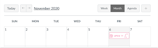 LaTex in the Calendar