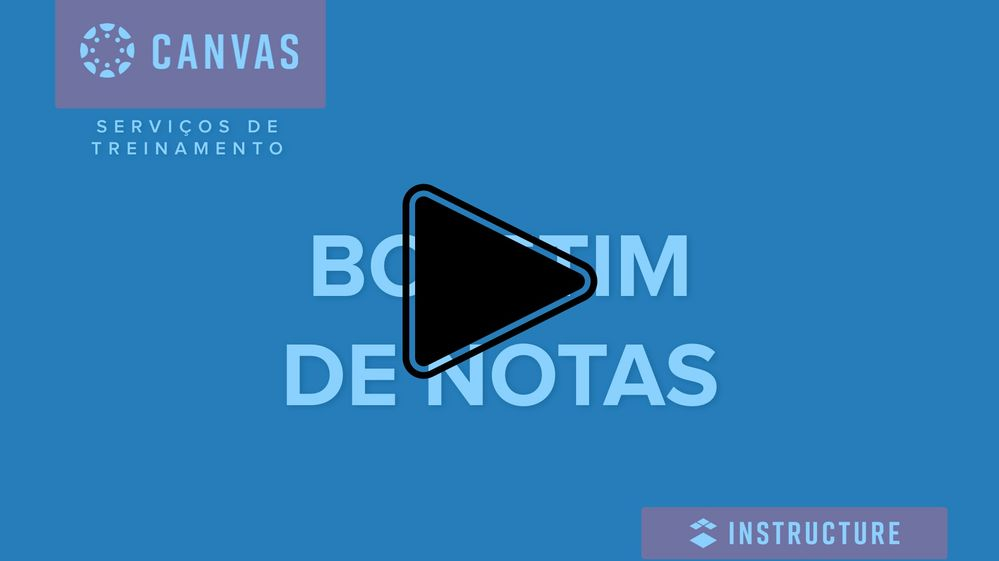 Boletim de Notas do Canvas