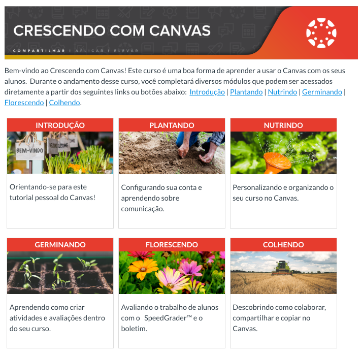 Crescendo com Canvas