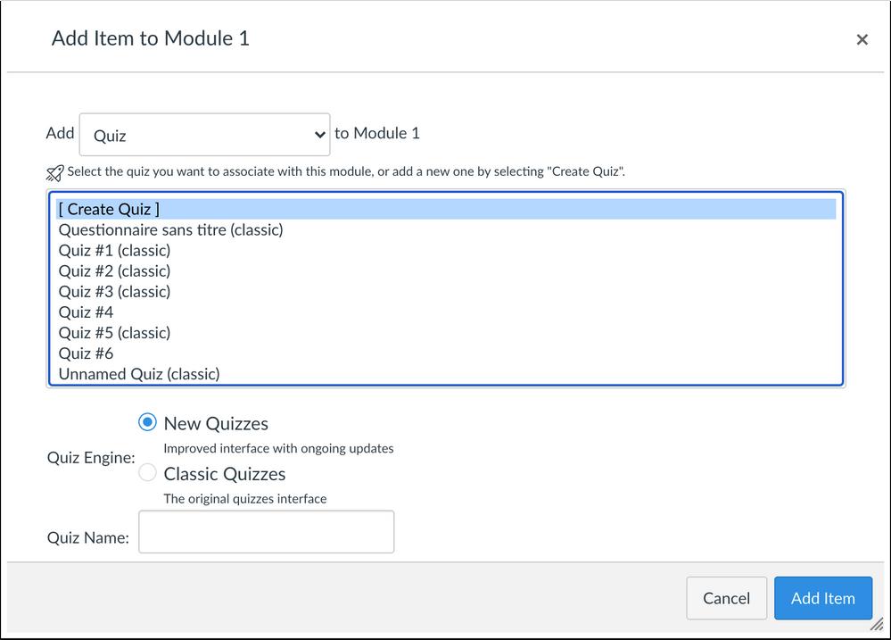 new quizzes in module