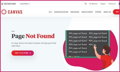 Instructure's Page Not Found error