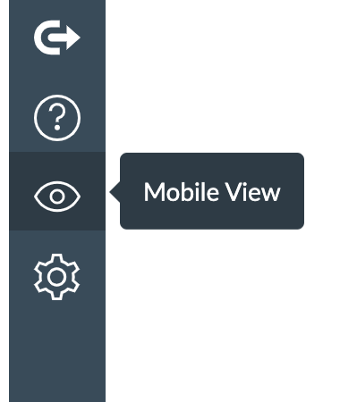 Mobile View in Global Navigation