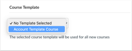 Selected Course Template