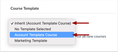 Selecting the same template as is inherited