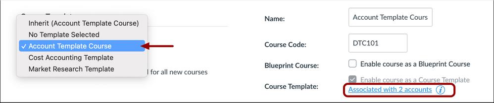 Course Template Association