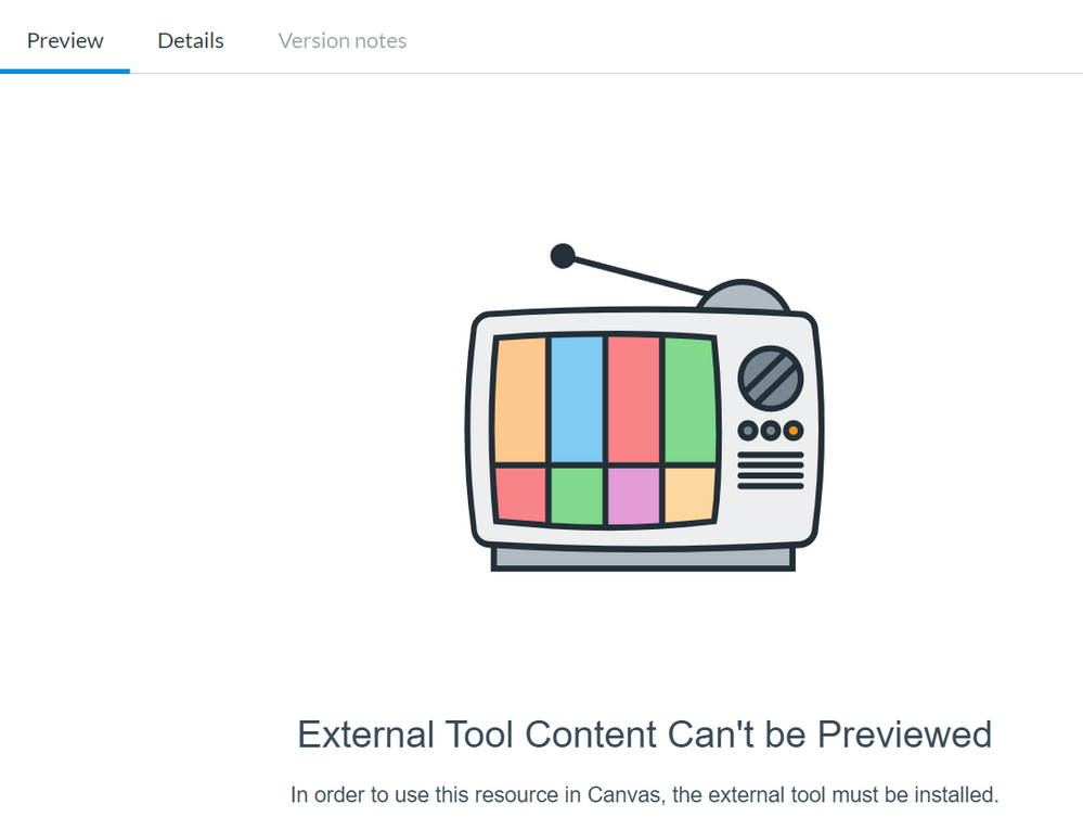 External Tool Can't be Previewed