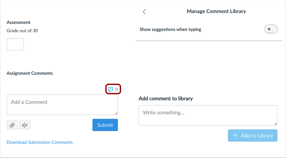 Open Comment Library