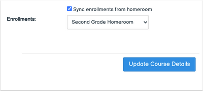 Course Settings Subject Sync