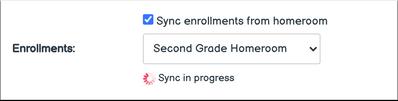 Enrollment Sync in Progress