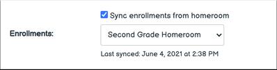 Enrollment Sync Complete