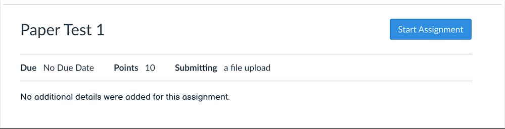 Assignment with No Description