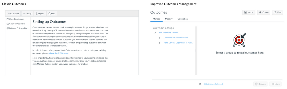 Current Outcomes vs Improved Outcomes Management
