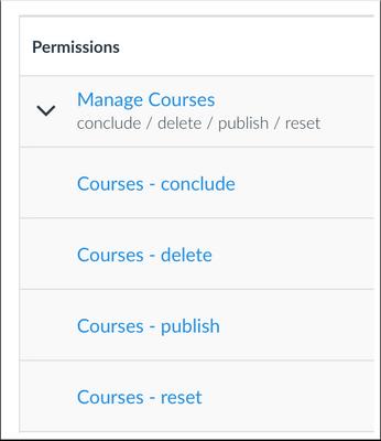 Manage Courses Granular Permission
