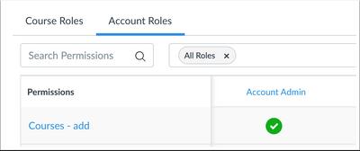 Account Roles Courses - Add Permission